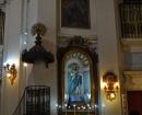 Púlpito y Retablo de la Virgen de la Sabatina